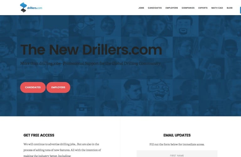 drillers.com homepage screenshot 1